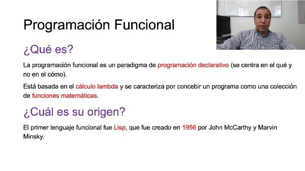 El paradigma de programación funcional