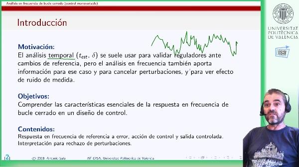 Análisis de respuesta en frecuencia de bucles cerrados de control monovariable