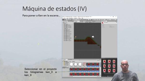 Animación y estados de sprites en Unity3D