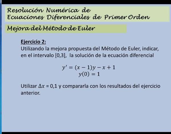 MN-EDO-03-12 Método de Euler mejorado - Ejercicio2