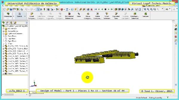 Creación Virtual Modelo Lego Technic 8862-1 ¿ Pieza 1 ¿ 38 de 44