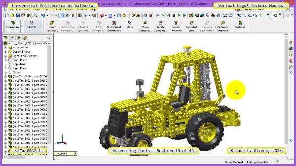 Creación Virtual Modelo Lego Technic 8862-1 ¿ Montaje Modelo ¿ 14 de 44