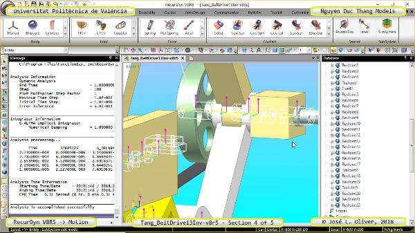 Simulación Cinemática Tang_BeltDrive13Inv-v8r5 con Recurdyn - RotaT - 4 de 5