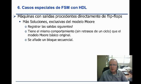 FSM Moore con Verilog, salidas registradas estilo 3 procesos