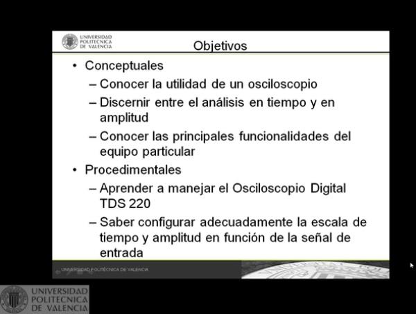 Osciloscopio Digital TDS220