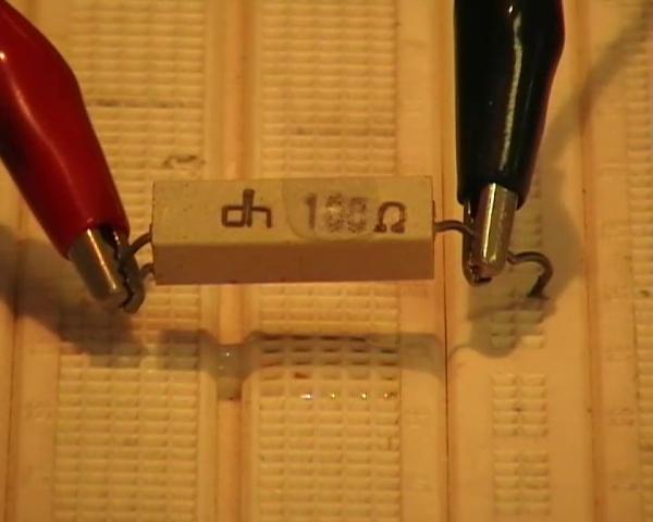 Disipación de potencia en un resistor bobinado