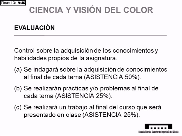 """Presentación """"Ciencia y Visión del Color"""""""