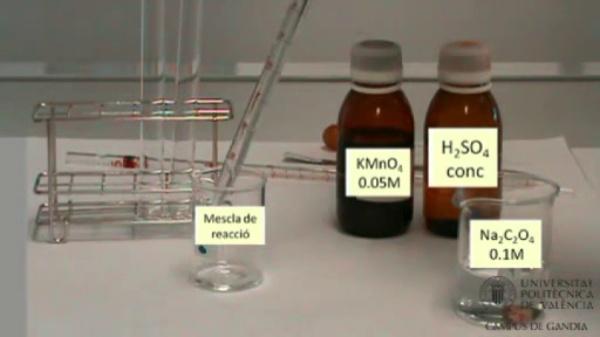 Velocitat d'una reacció química: Efecte de la temperatura de reacció