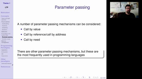 LTP - Unit 1 - Parameter passing