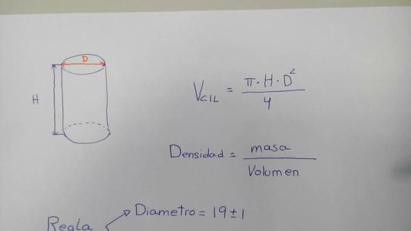 Control del error en la determinación de la densidad de una pieza cilíndrica-15