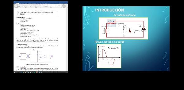 EPOT Introducción a la práctica 2. Regulador de alterna con TRIAC.
