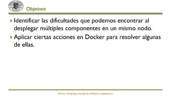 Docker: Despliegue manual de múltiples componentes