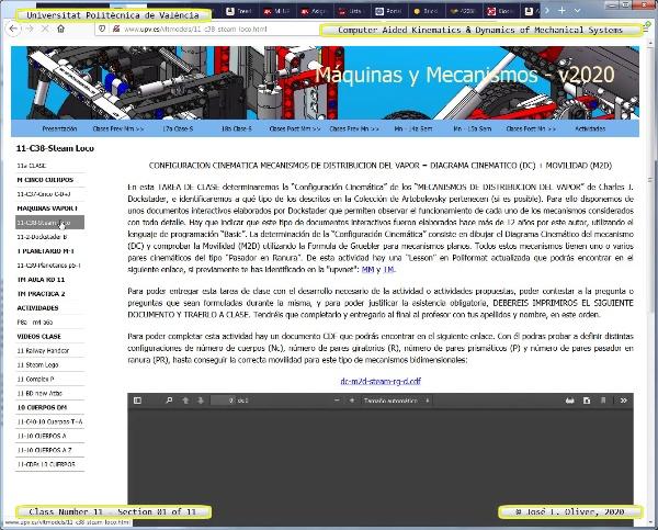Mecánica y Teoría de Mecanismos ¿ 2020 ¿ MM - Clase 11 ¿ Tramo 01 de 11