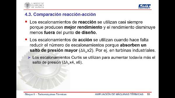 AEMT - Turbomáquinas - 6.- Comparación acción/reacción