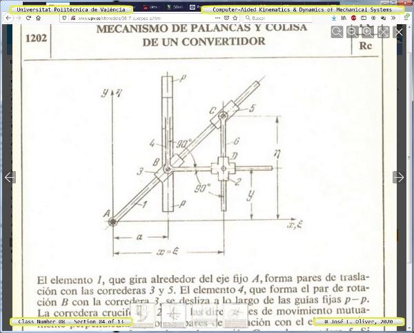 Mecánica y Teoría de Mecanismos ¿ 2020 ¿ MM - Clase 08 ¿ Tramo 04 de 13