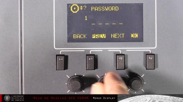 Mesa Digital AEQ FORUM - Menús de Configuración