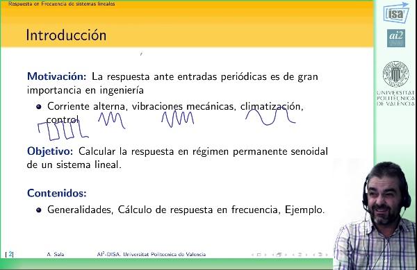 Respuesta en frecuencia de sistemas dinámicos lineales en función de transferencia