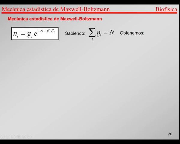 6.-Física Estadística T27-T31- Maxwell-Boltzmann