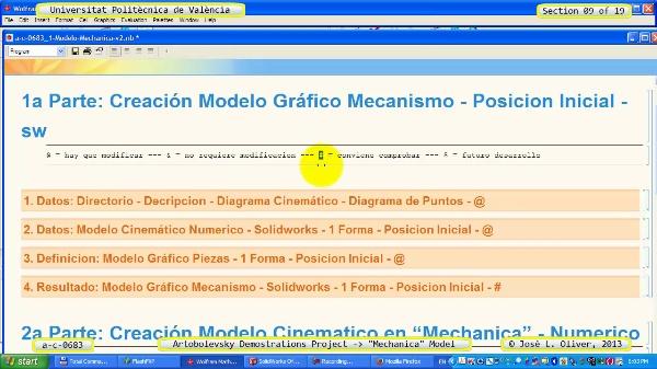 Simulación Mecanismo a_c_0683 con Mechanica - 09 de 19