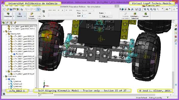 Simulación Dinámica Lego Technic 8862-1 - Tractor - sobre Base - 15 de 27