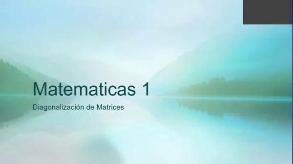 M1-ELE-60 Diagonalización de Matrices.