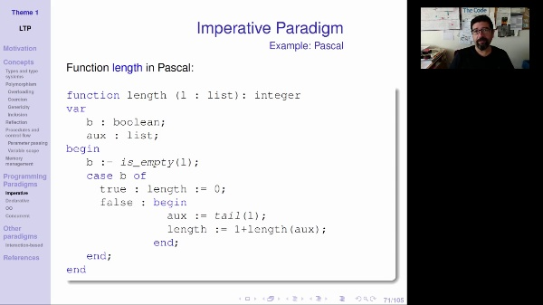 LTP - Unit 1 - Imperative paradigm
