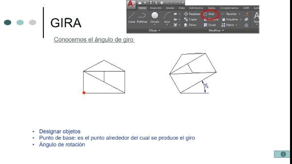 AutoCAD - Edición - Gira
