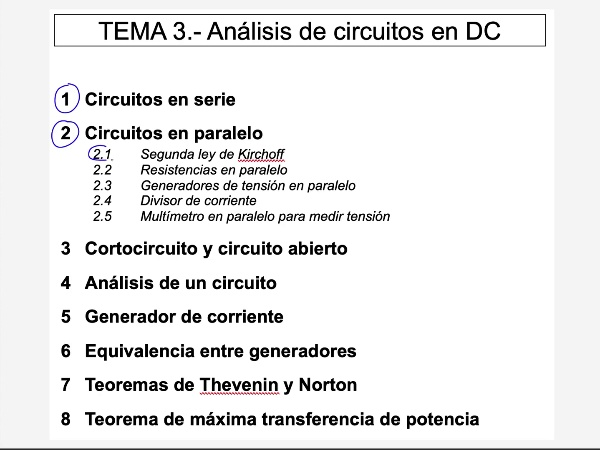 Teoría de Circuitos: 3.2.3- Circuitos en paralelo. Generadores en paralelo