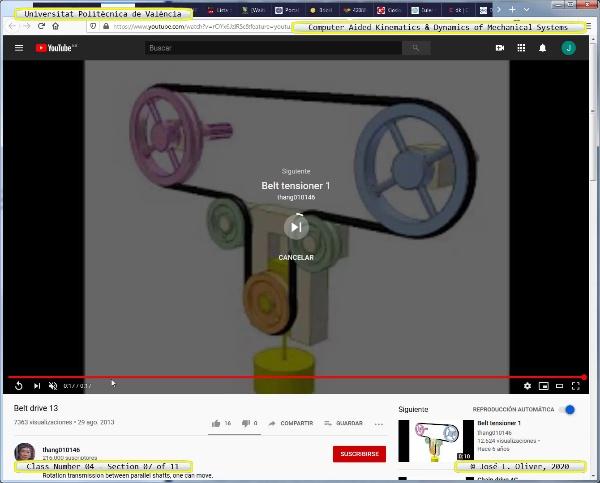 Mecánica y Teoría de Mecanismos ¿ 2020 ¿ MM - Clase 04 ¿ Tramo 07 de 11