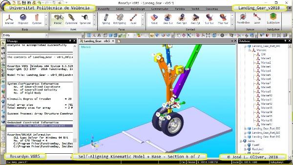 Simulación Dinámica de Tren de Aterrizaje con Recurdyn V8R5 - 6 de 7