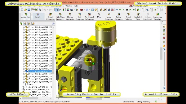 Montaje Modelo Lego Technic 8459-2 con Solidworks ¿ 10 de 15