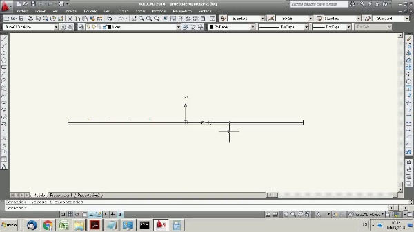 Autocad for Airport engineering 5. Stretch and cut commands to draw an exit taxiway