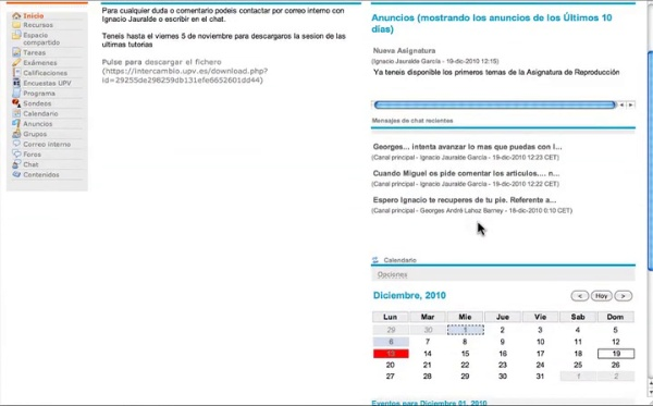 Estructura del Curso de Acuicultura Online- UPV