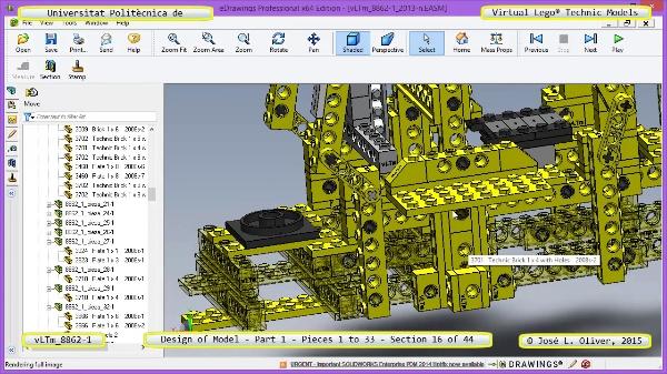 Creación Virtual Modelo Lego Technic 8862-1 ¿ Pieza 1 ¿ 16 de 44
