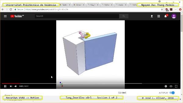 Simulación Cinemática Tang_Door1Inv-v8r5 con Recurdyn - AdP-c - 1 de 2