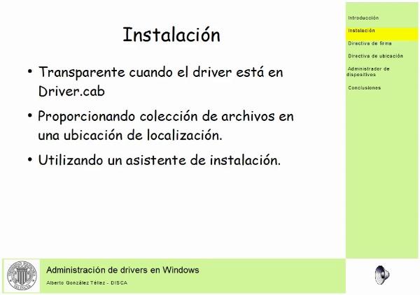Administrador de drivers en Windows