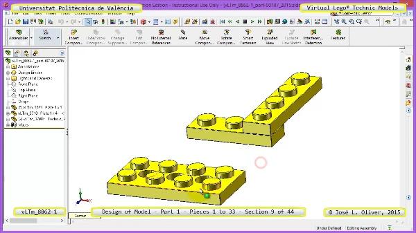 Creación Virtual Modelo Lego Technic 8862-1 ¿ Pieza 1 ¿ 09 de 44