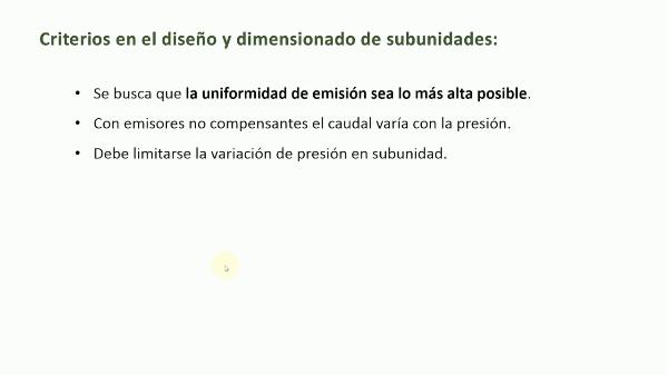 Dimensionado de una subunidad de riego localizado con emisor no compensante utilizando Excel