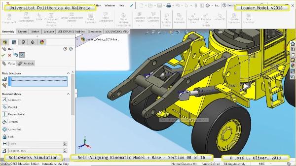 Simulación Dinámica de Cargadora Volvo L70C con Solidworks Motion v2017 - 08 de 16