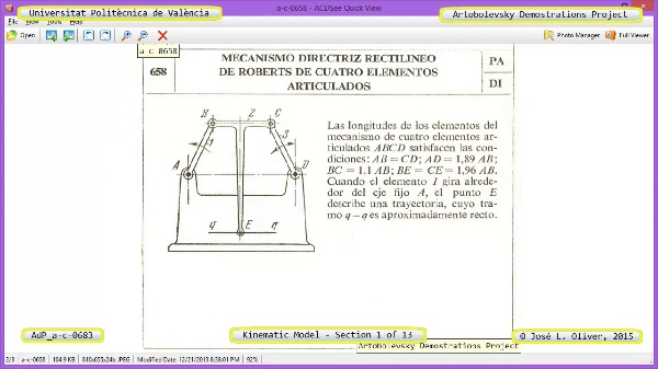 Simulación Mecanismo a-c-0683 con Cosmos Motion - 01 de 13