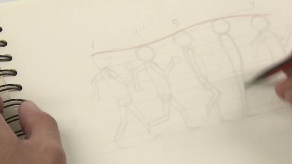 Principios básicos del caminado bípedo para animación
