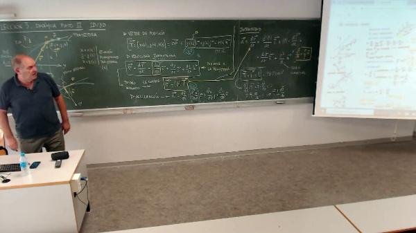 Física. Lección 3. Dinámica del punto 3D. Trayectoria circular