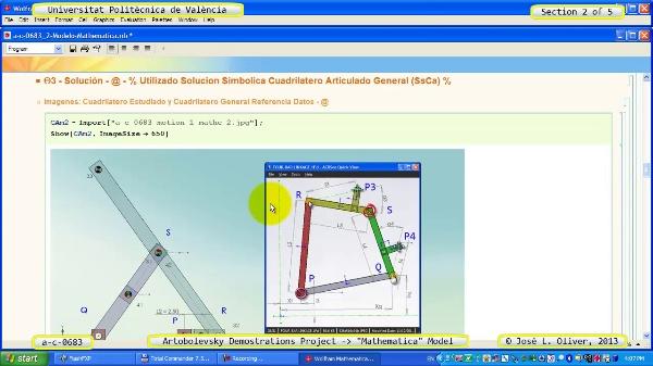 Solución Cinemática Simbólica a_c_0683 con Mathematica -A- 2 de 5