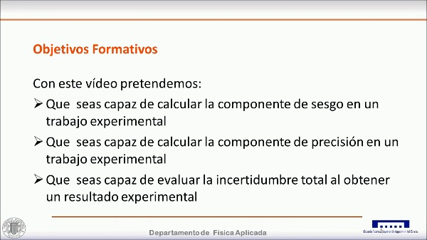 CÁLCULO DE LAS COMPONENTES DE SESGO Y PRECISIÓN EN UN TRABAJO EXPERIMENTAL