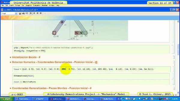 Simulación Mecanismo a_c_0683 con Mechanica - 11 de 19