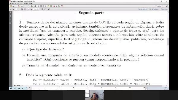Diseño de un estudio económico empírico con datos de COVID