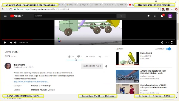 Simulación Cinemática Tang_DumpTruck1Inv-v8r5 con Recurdyn - AdP-t