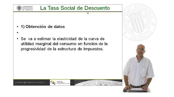 B07. Cálculo de la Tasa de descuento social. Elasticidad de la utilidad marginal del consumo