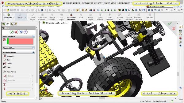 Creación Virtual Modelo Lego Technic 8862-1 ¿ Montaje Modelo ¿ 39 de 44