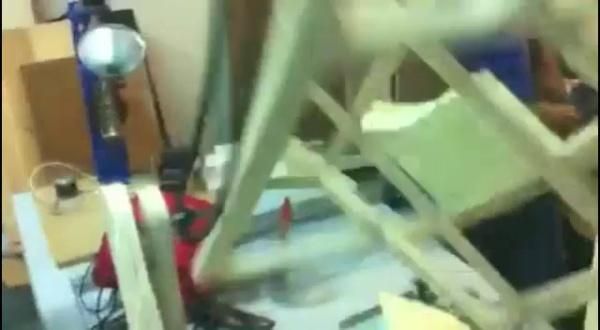 Máquina de rotomoldeo manual